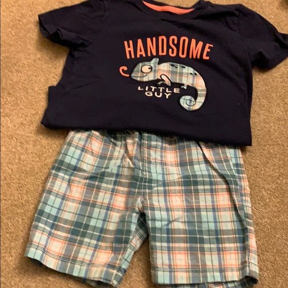 Matching shorts and shirt